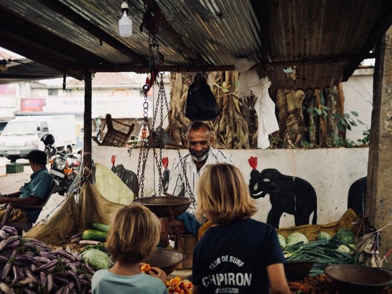 Les mini Chipiron au marché de Matara Sri Lanka