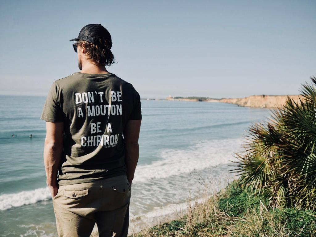 Tshirt Don't be a mouton Kaki Chipiron Surf ss18