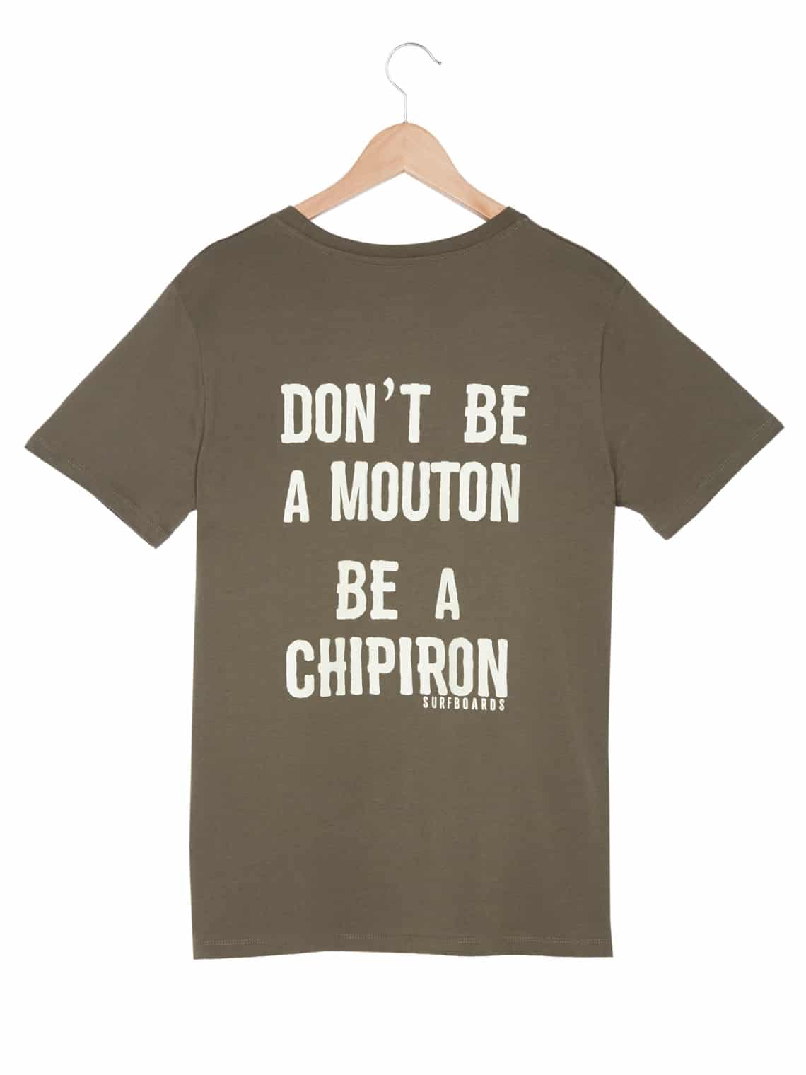 T-shirt Don't be a mouton Chipiron kaki - back