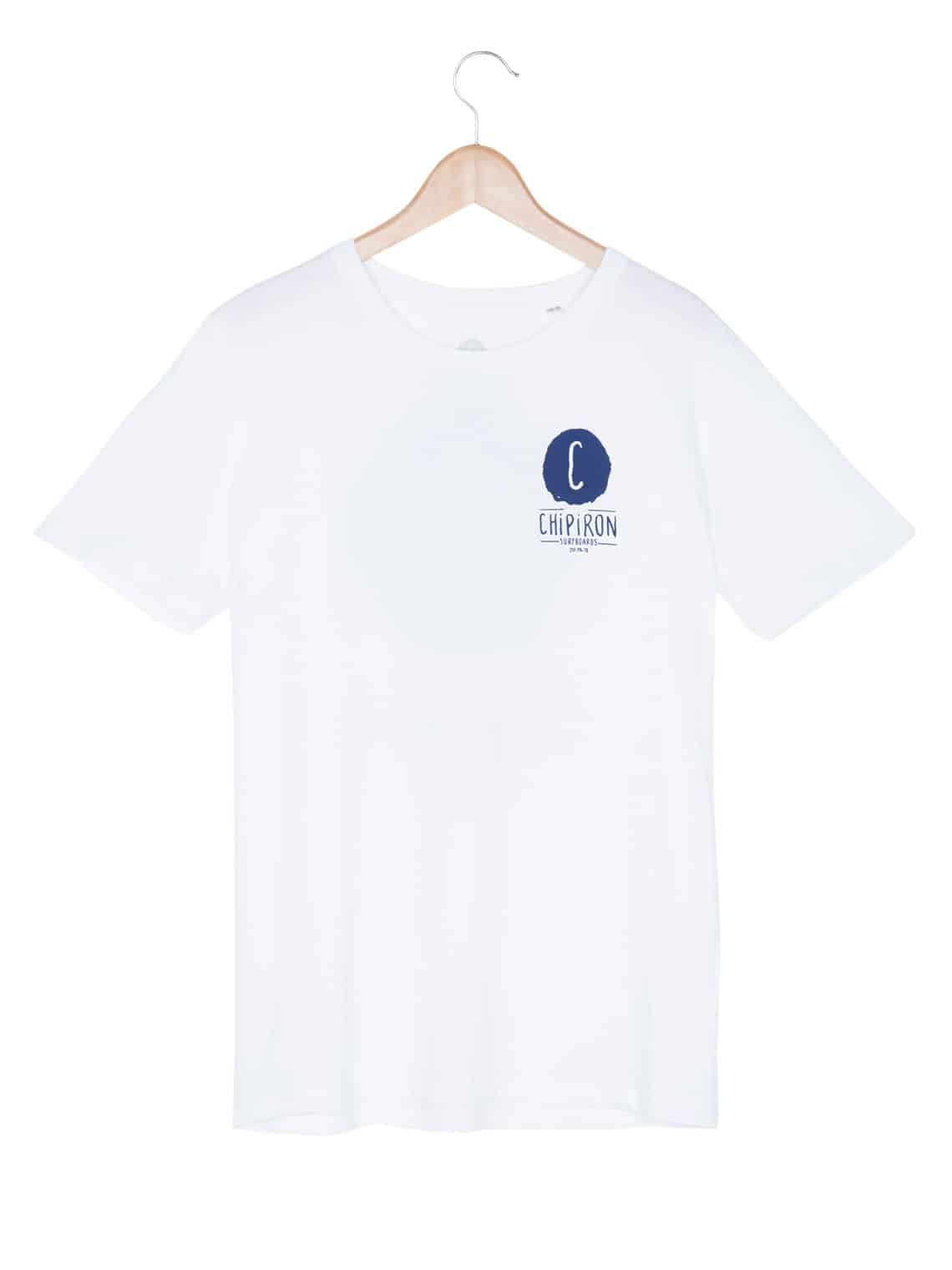 T-shirt Corpo back print blanc Chipiron
