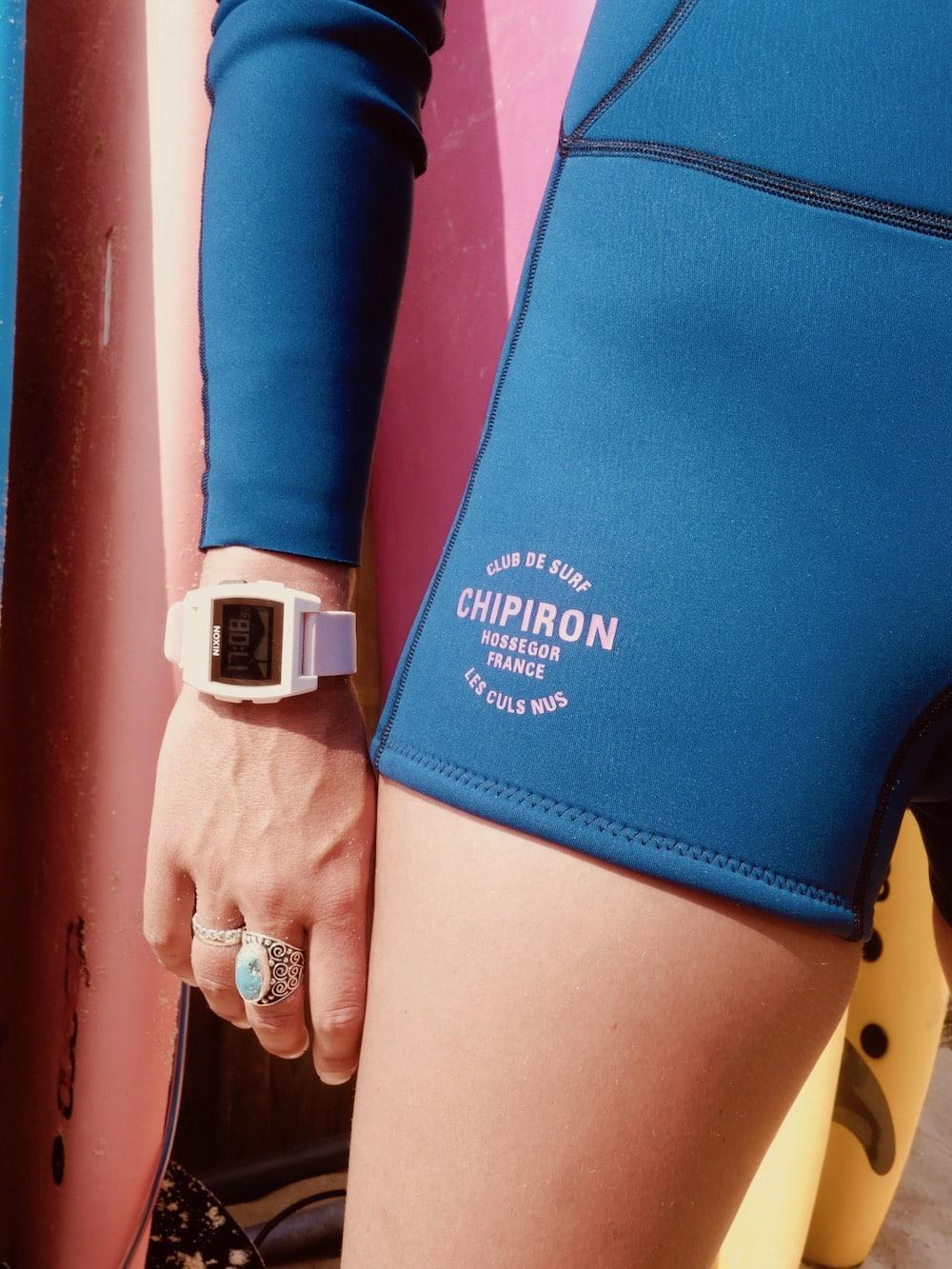 Détail combinaison springsuit Chipiron Hossegor surf