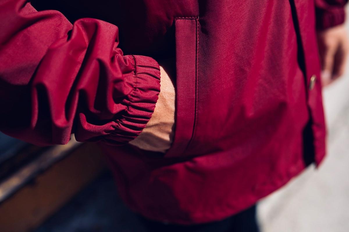 Détails Coach jacket Chipiron bordeaux
