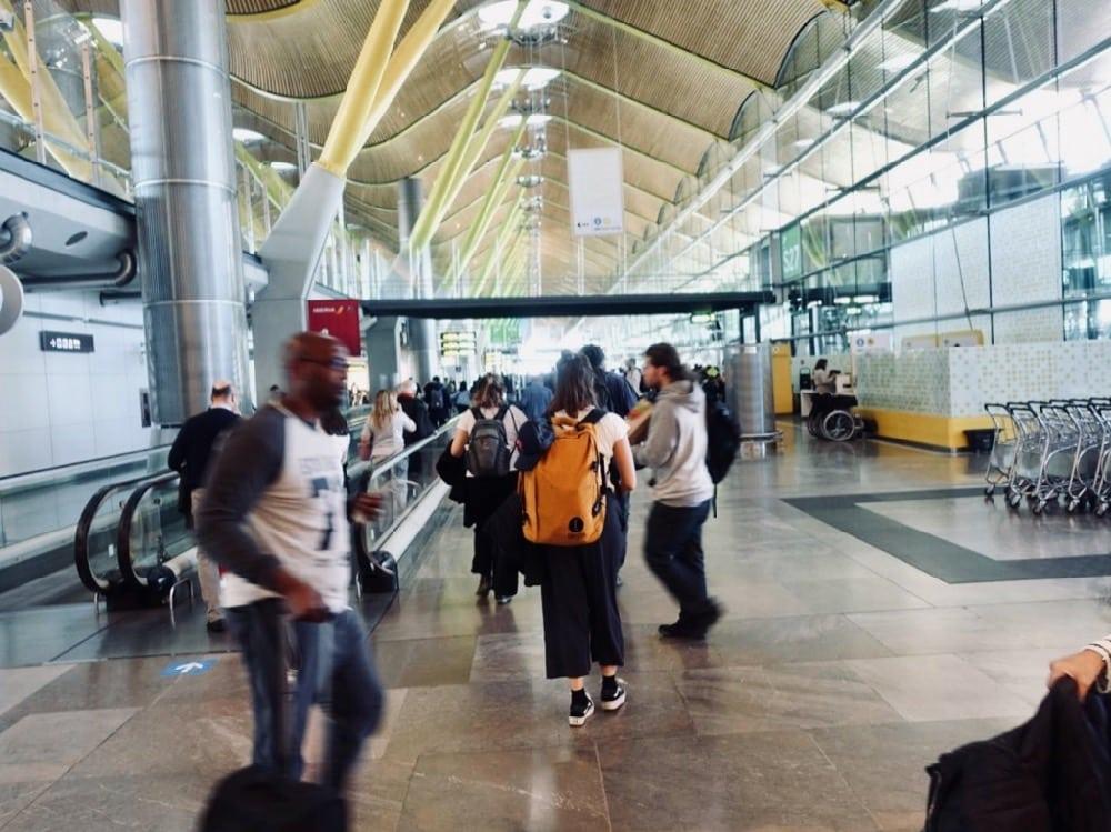 Airport Madrid Nicaragua surf trip