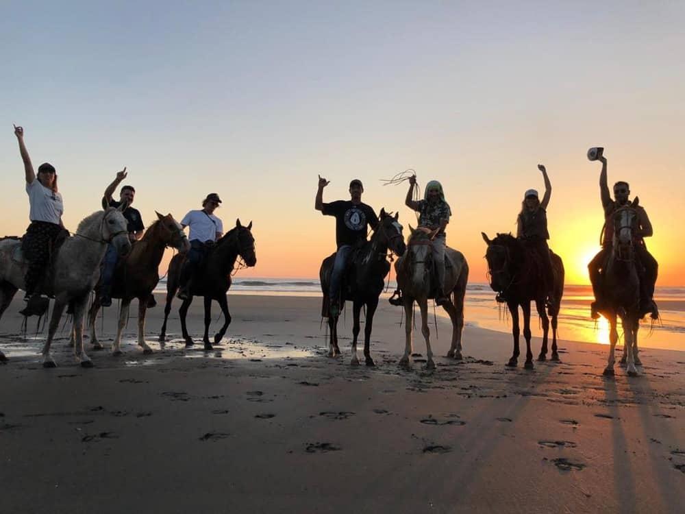 ballade à cheval réussie - las dunes Nicaragua
