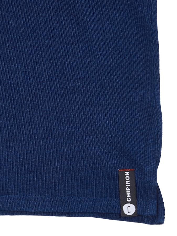 polo Chipiron classique bleu denim détail