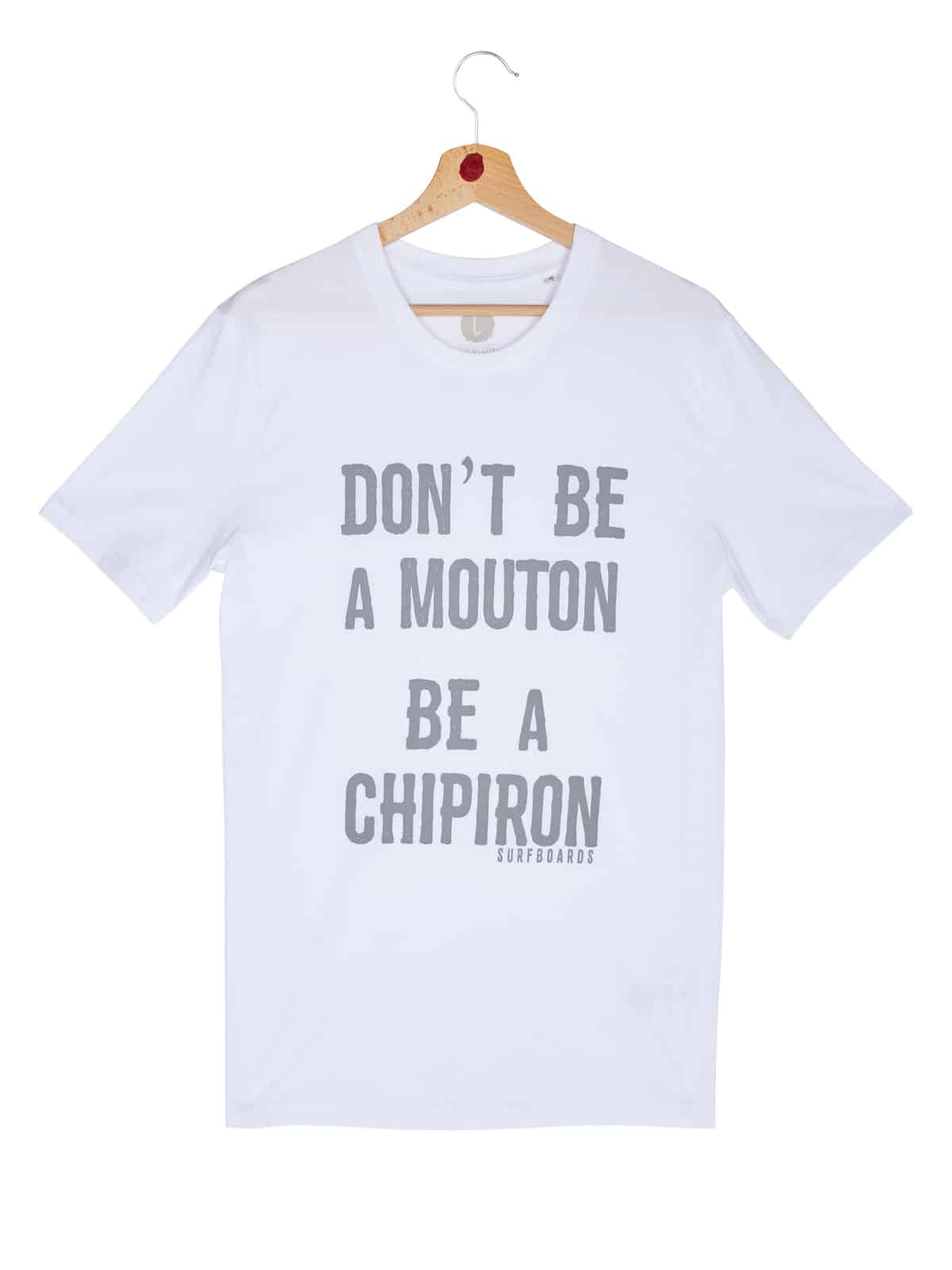 Tshirt Don't be a mouton blanc front print
