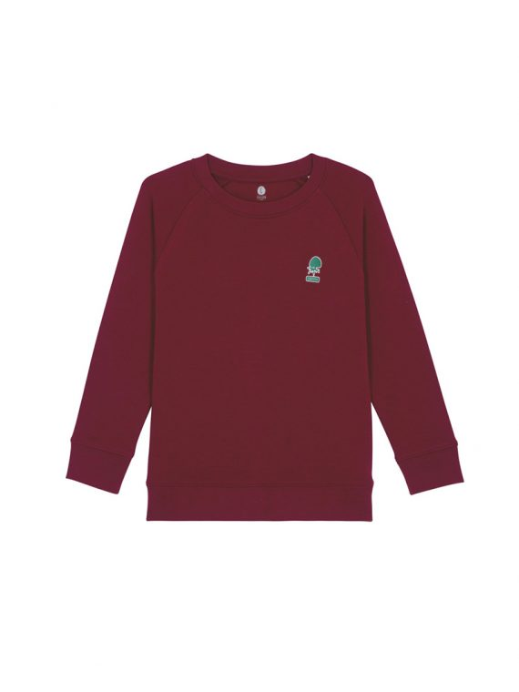 sweat Mini Patch kid Bordeaux