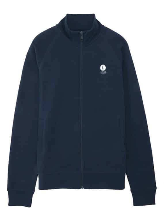 sweat zipper Chipiron bleu