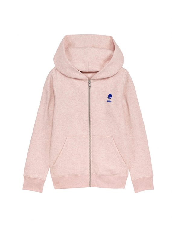 Sweat zip Mini Patch kid rose