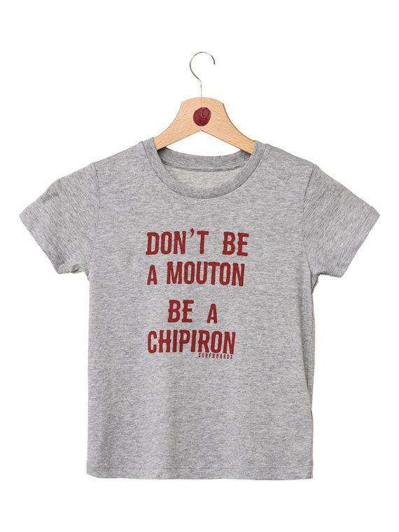 Tshirt enfant Don't be a mouton gris