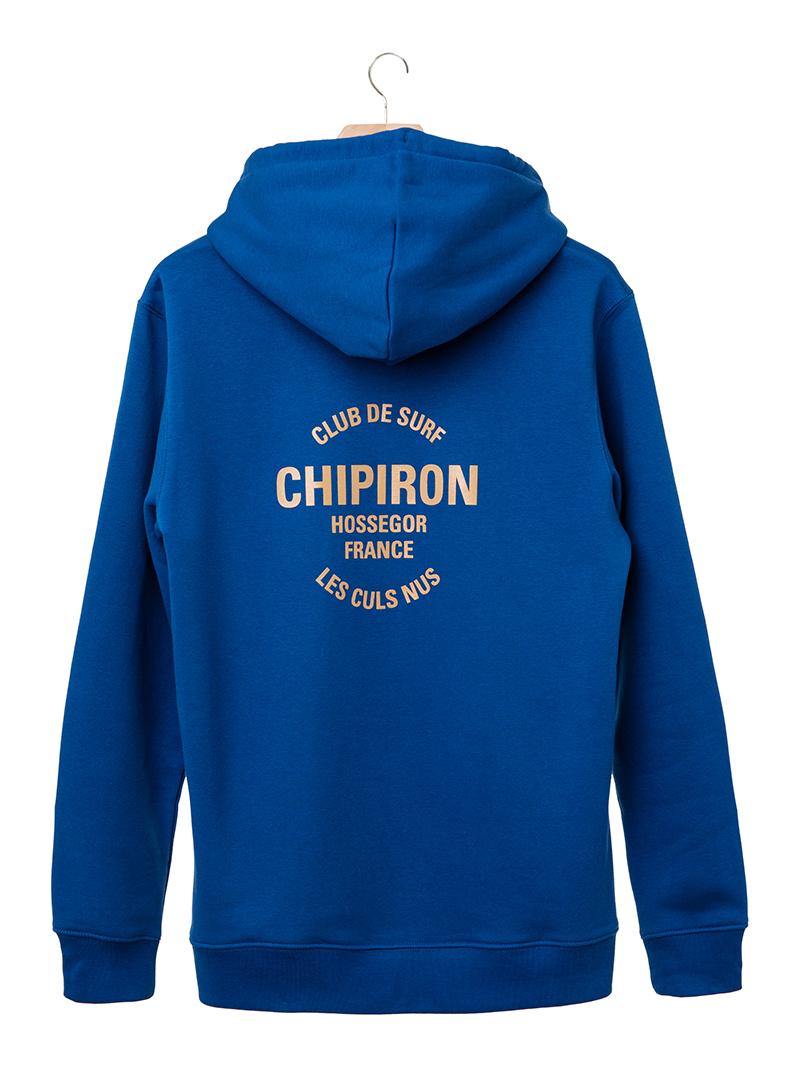 Hoodie club de surf Chipiron Hossegor bleu majorelle back