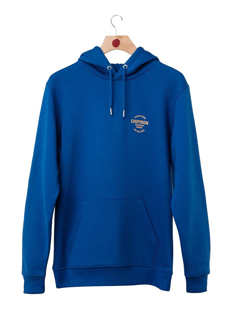 Hoodie club de surf Chipiron Hossegor bleu majorelle front