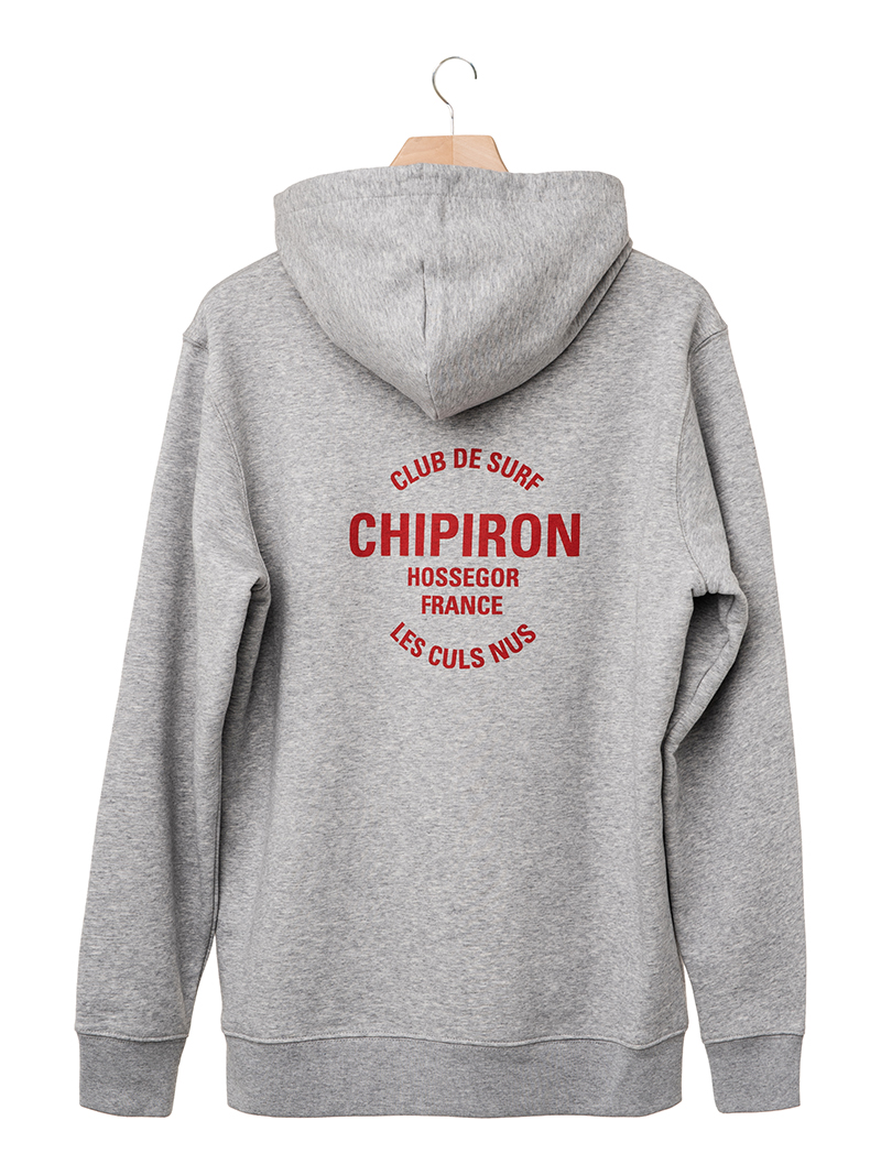 Hoodie club de surf Chipiron Hossegor gris back