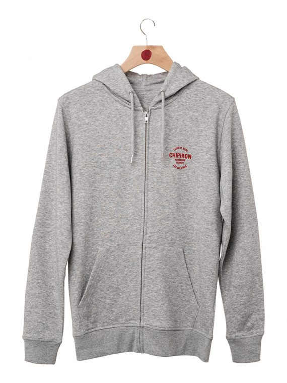 Hoodie zippé club de surf Chipiron Hossegor gris back