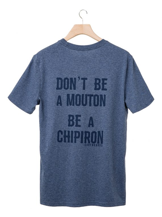 Tshirt Don't be a mouton bleu Chipiron SS20 back