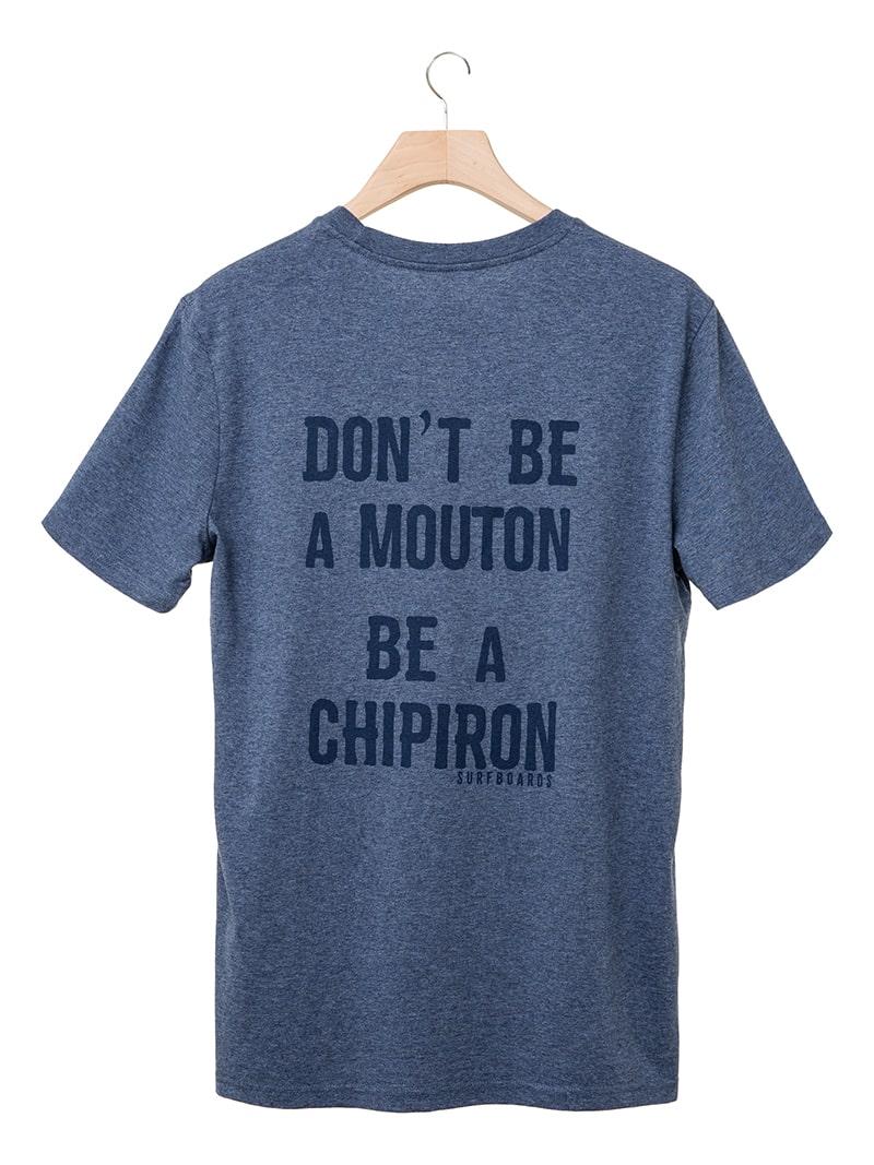 Tshirt Don't be a mouton bleu Chipiron SS20 back