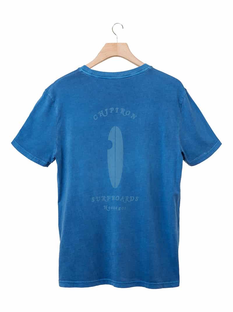 T-shirt Pastel Surf Love bleu vintage