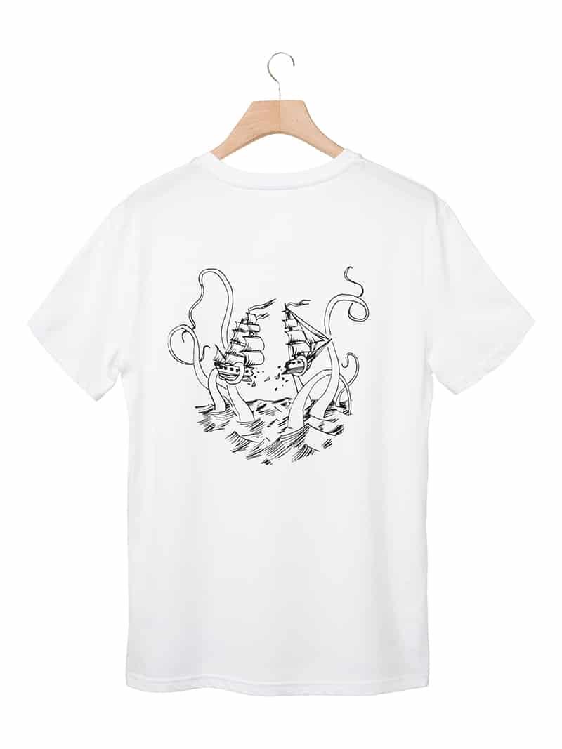 Tshirt pirates & chipiron back blanc