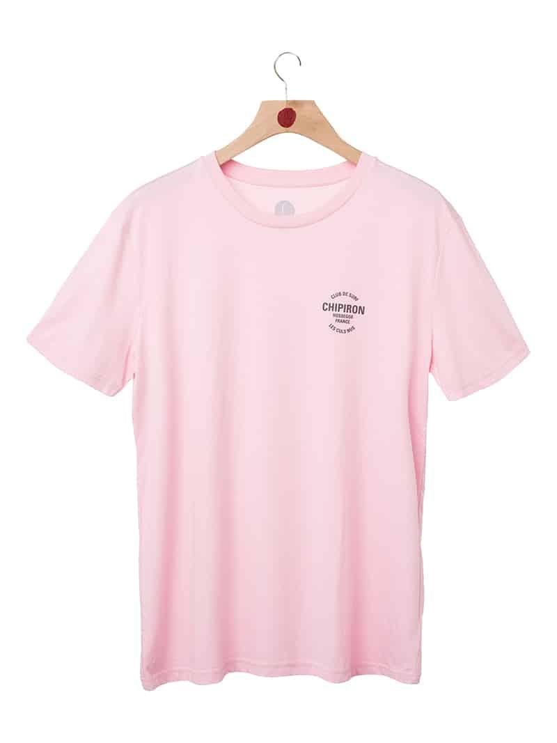 Tshirt club de surf SS20 rose front