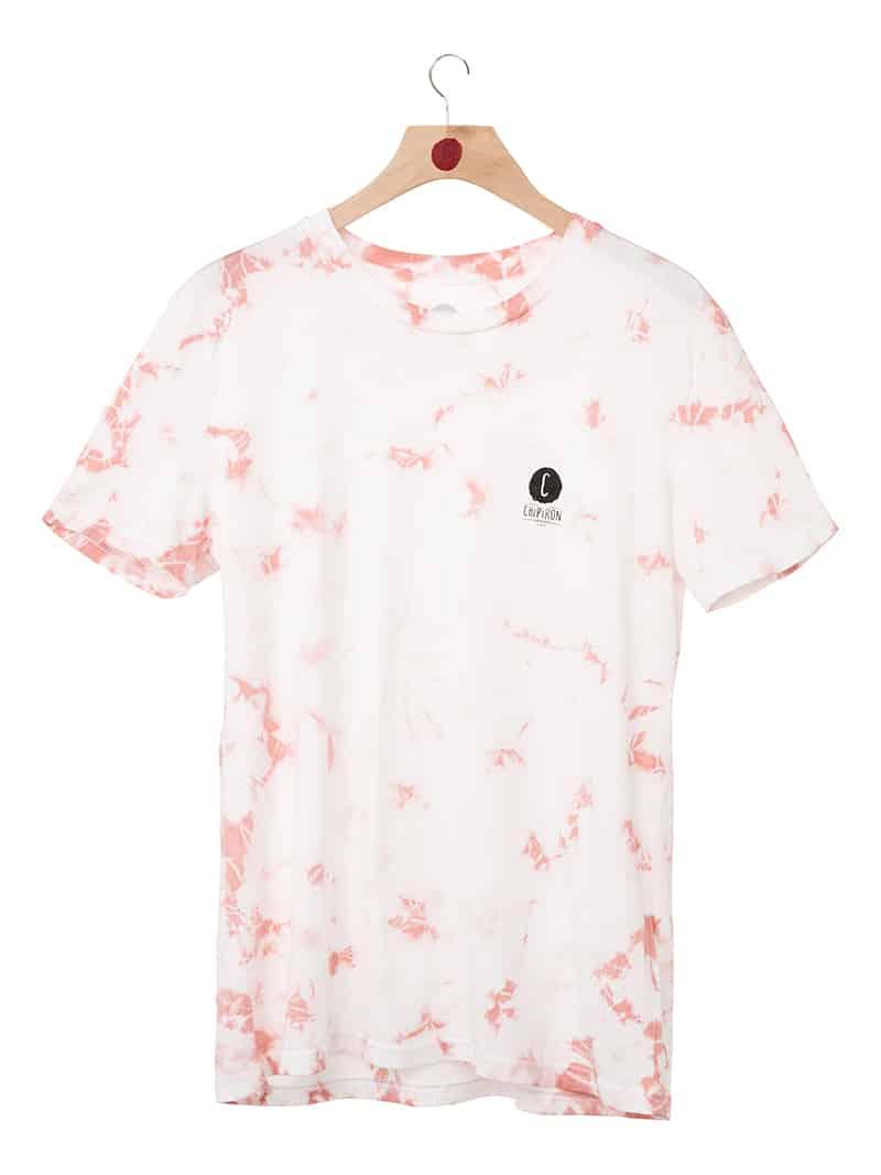 Tshirt logo line tie and dye rose