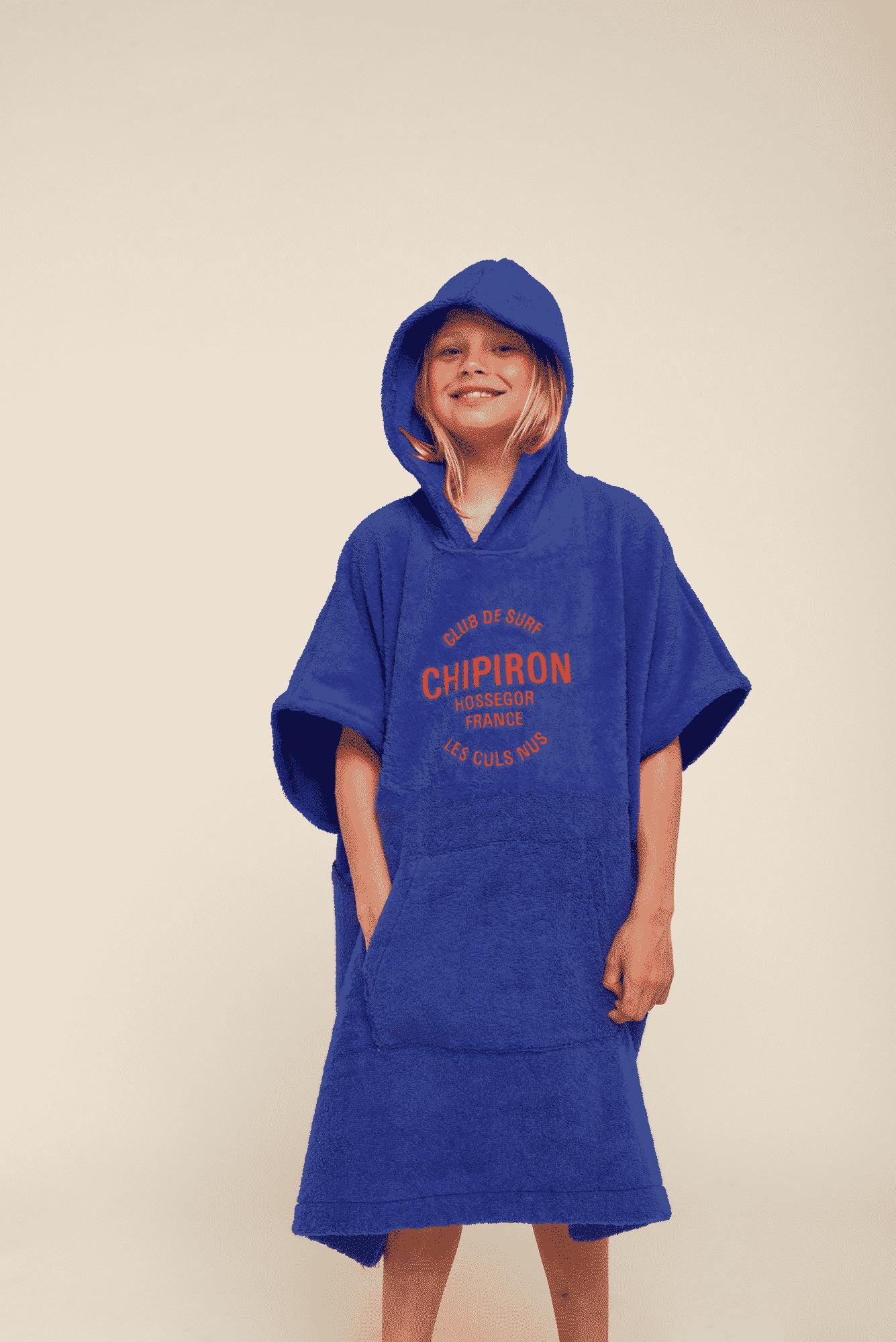 Poncho de surf Enfant bleu royal