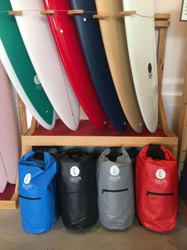 Dry Bag Sac étanche de surf bleu rouge noir gris Chipiron Hossegor 30L