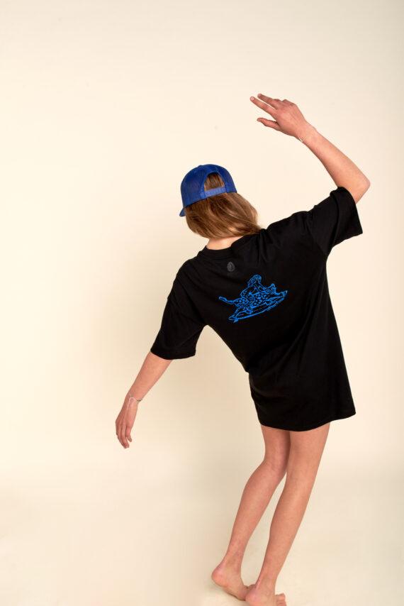 Robe Tee-shirt Chipiron Aurelie andres noir hossegor vagues art