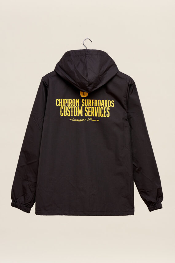 Veste a capuche custom services chipiron surf hossegor backprint Front print noir adulte