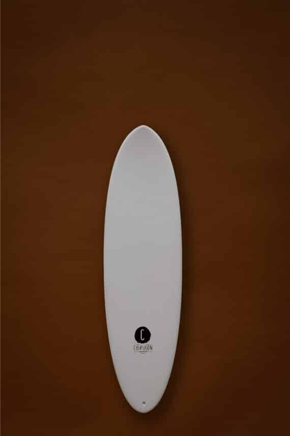 Gambas 6'0 en mousse Chipiron Surfboards et son outline