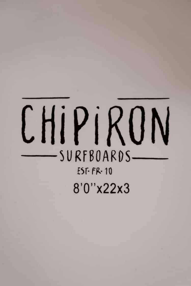 planche de surf en mousse Petite Saucisse 8' details cotes Chipiron Surfboards