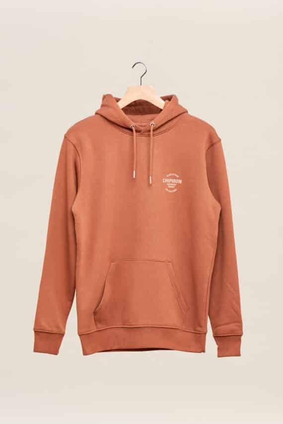 Sweatshirt à capuche chipiron club de surf caramel hossegor les culs nus back print Front print adulte