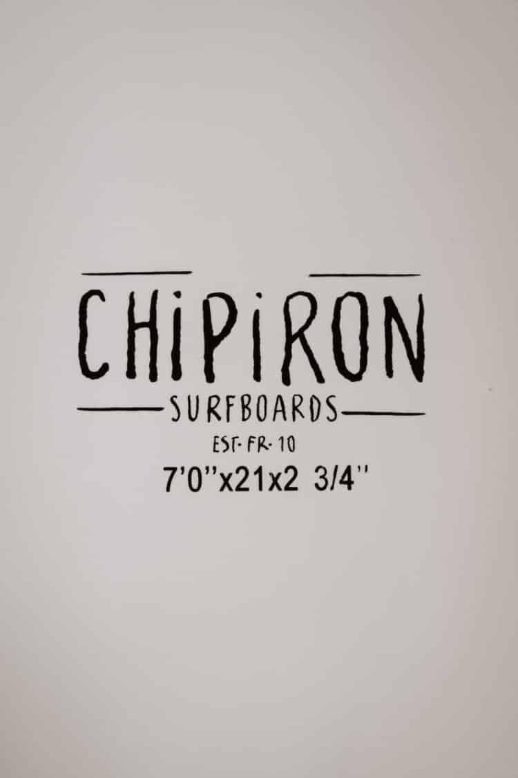 Côtes du tracker 7' en mousse par Chipiron Surfboards