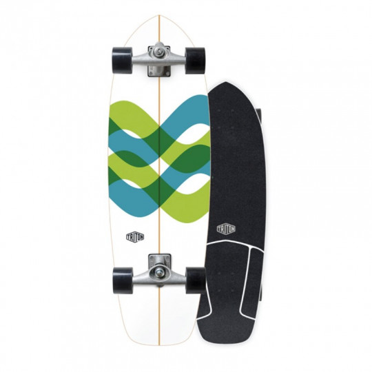 Skateboard carver surf triton trucks roues plateau en bois skate surf