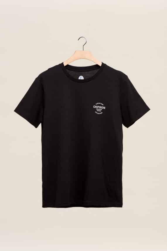 tee-shirt chipiron club de surf noir hossegor les culs nuls back print Front print adulte