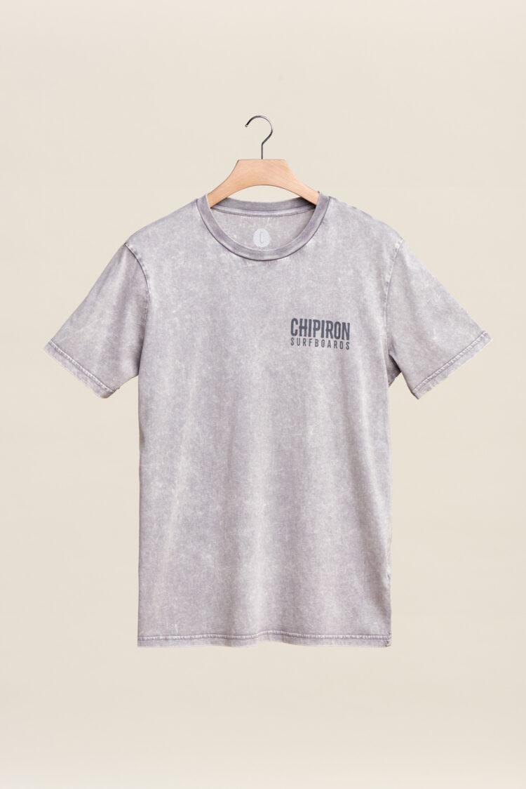 tee shirt chipiron surfboards dont be a mouton gris front print back print hossegor gris délavé adulte