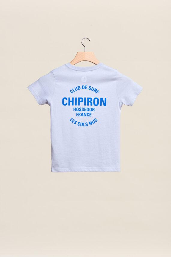 tee-shirt chipiron club de surf bleu hossegor les culs nuls back print Front print enfant