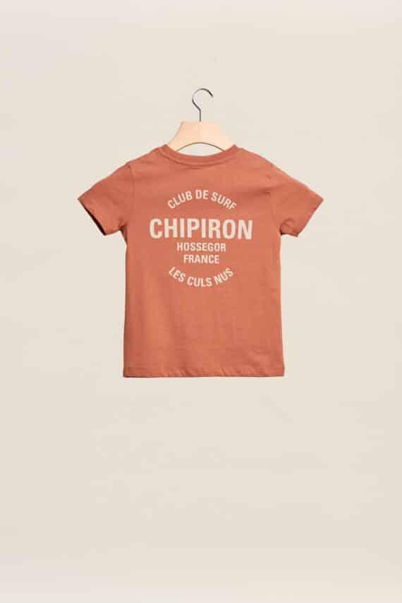 tee-shirt chipiron club de surf caramel hossegor les culs nuls back print Front print enfant