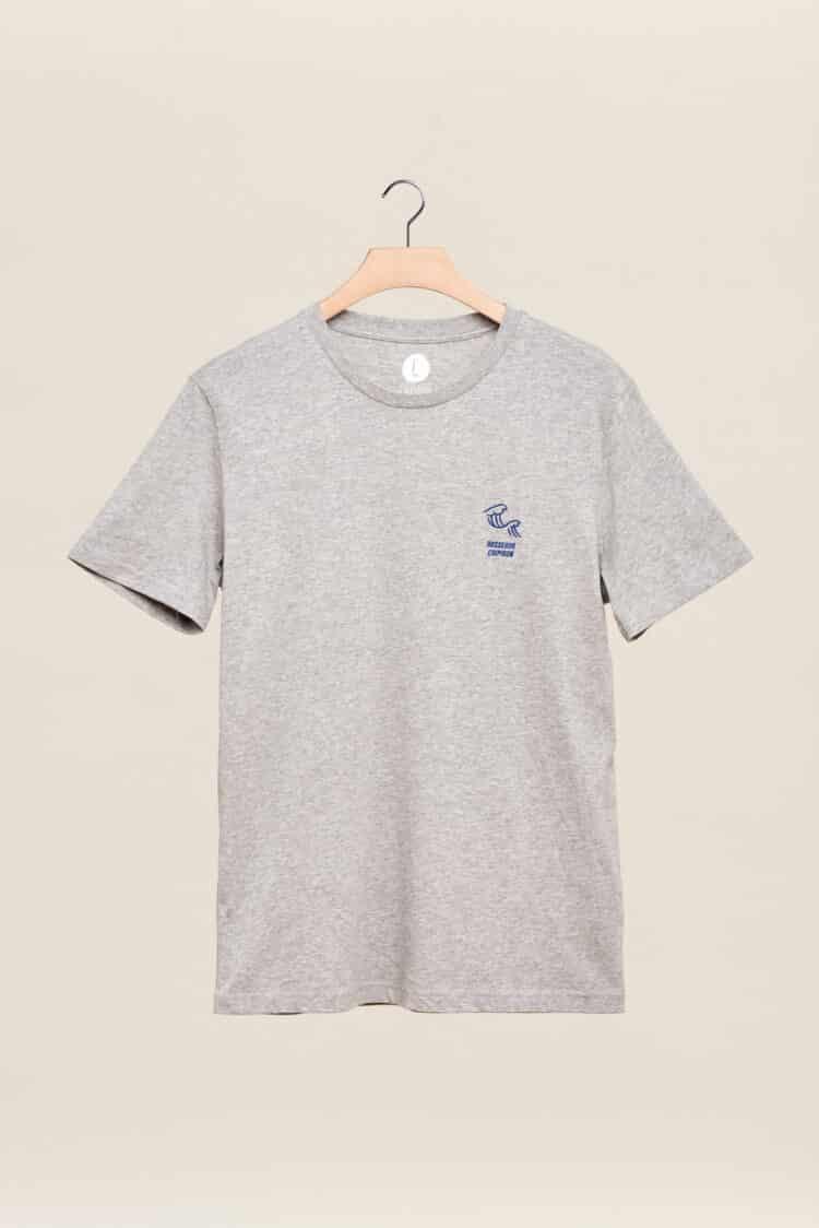 tee shirt Chipiron petite vague gris hossegor back print Front print adulte