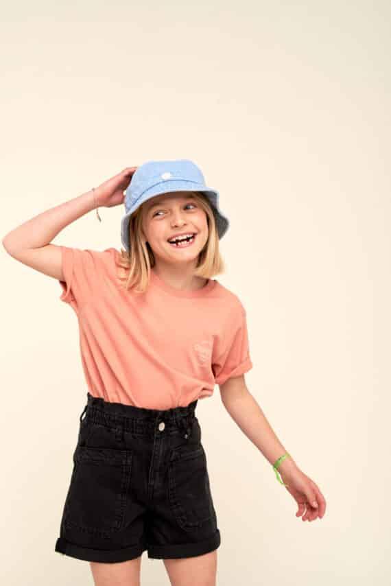 T-shirt enfant Club de surf Hossegor rose clay SS21
