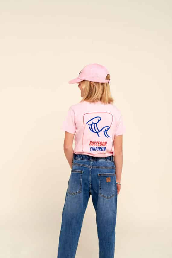 Tshirt enfant petite vague rose hossegor dos