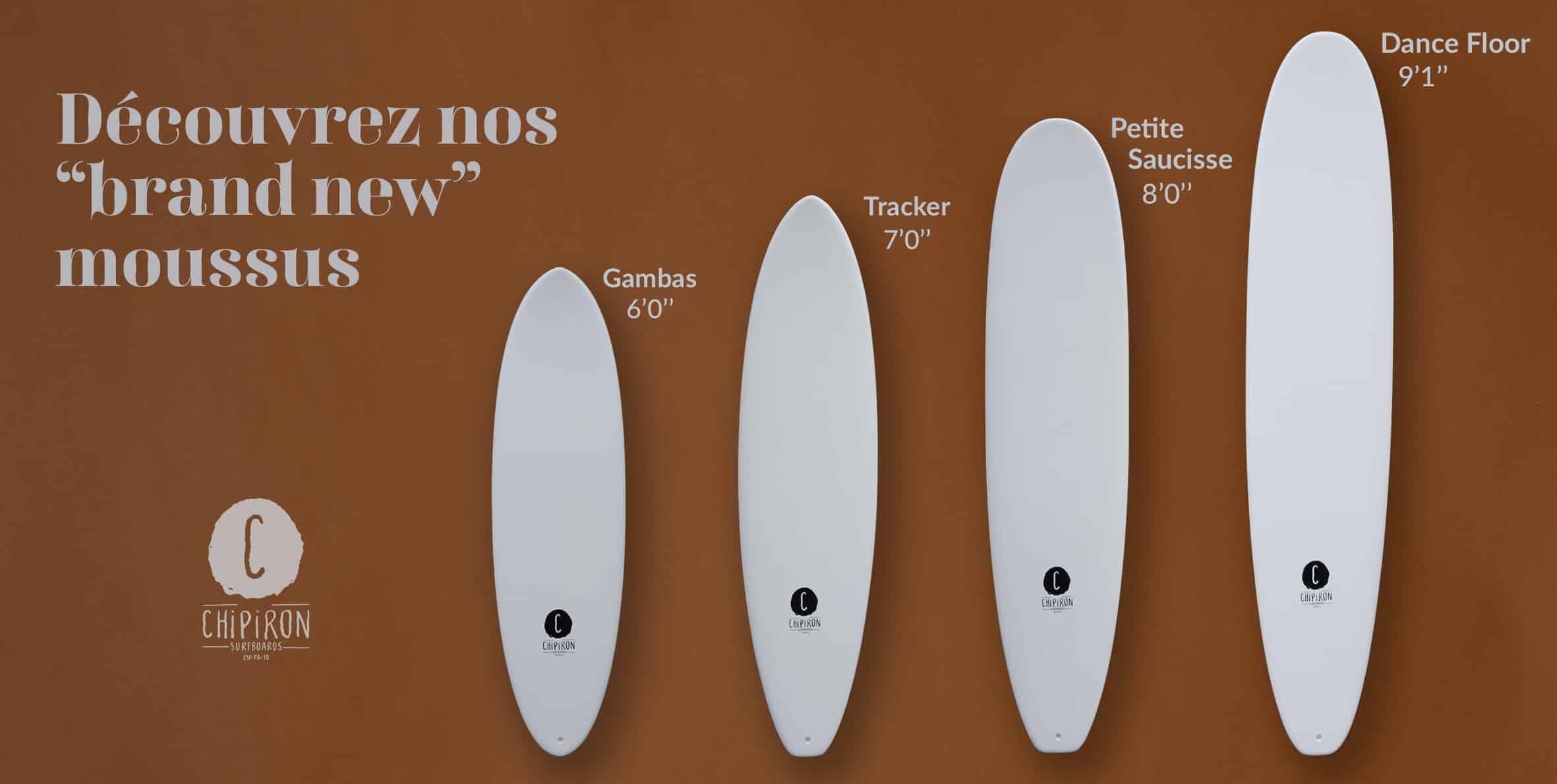 Nouvelles planches en mousse Chipiron Surfboards