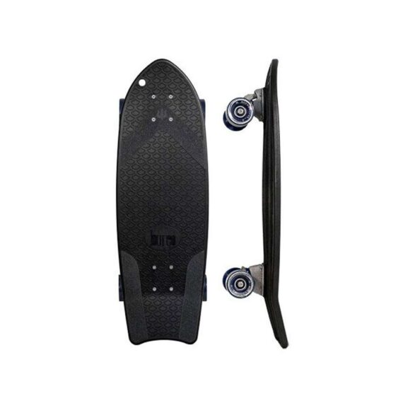 skate Carver noir en filet de pêche recyclé chez Chipiron Surfboards