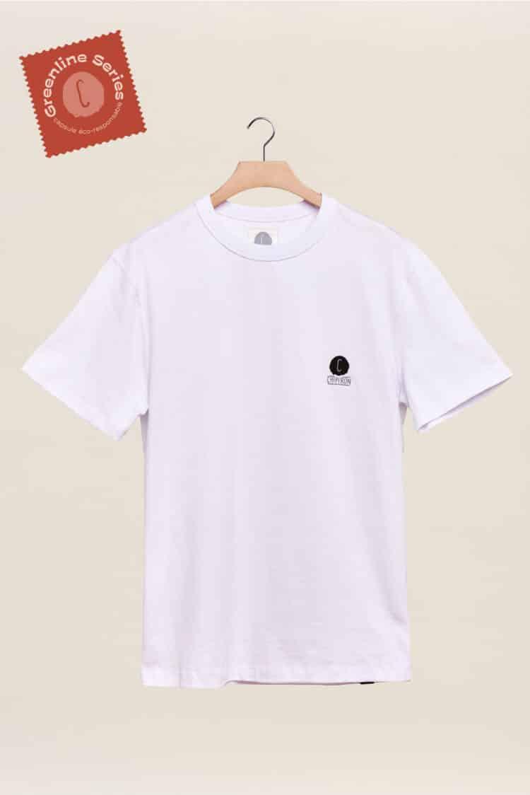 Nouveau tshirt blanc greeline séries la ligne éco responsable par Chipiron