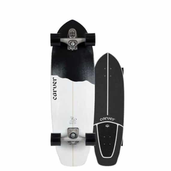 skate carver black tip 32,5