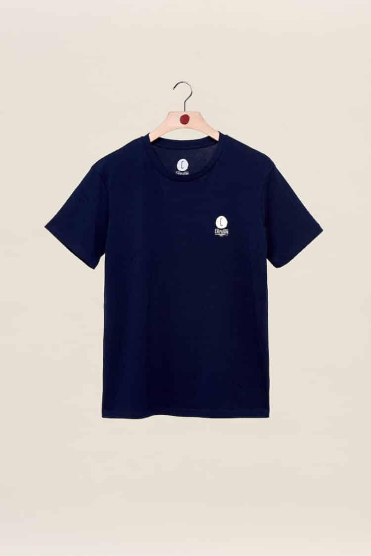 tshirt bleu marine carte des spots hossegor Seignosse capbreton Chipiron dos