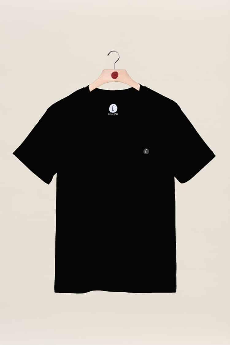t-shirt noir back to basics Chipiron surf hossegor